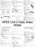 AP Environmental Science - Unit 2 Daily Video Notes (ENTIRE UNIT)