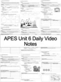 AP Environmental Science - Unit 6 Daily Video Notes (ENTIRE UNIT)