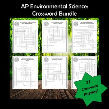Science And The Environment Crossword Worksheets Teaching