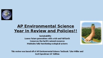 AP Environmental Science Exam Review-All You Need to Know to PASS the AP EXAM!!