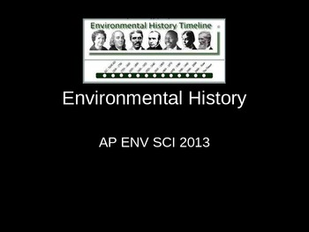 A.P. Environmental science history