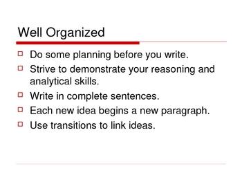 AP Essay Exam Preparation