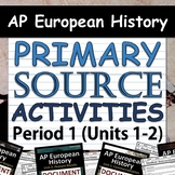 AP European History - AP Euro - Document Analysis Activities - All 4 Periods!