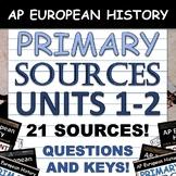 AP European History - AP Euro - Document Analysis Activities - All 4 Periods!