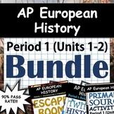 AP European History / AP Euro: Complete Unit 1 & 2 (Period 1) Pack Google Drive!