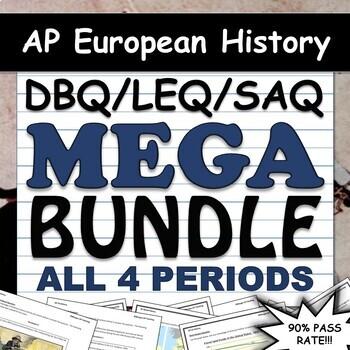 AP  European History DBQ, LEQ, & SAQ Super Pack - All 4 Periods - 2019 Updated!!