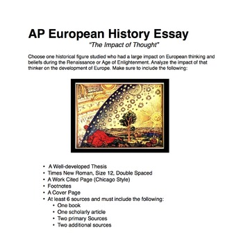 AP European History Essay: The Impact of Thought
