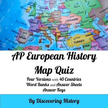 Ap european history europe map quiz by discovering history tpt ap european history europe map quiz gumiabroncs Images