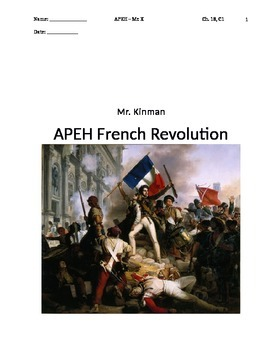 AP European History French Revolution Newspaper Project (Example included)
