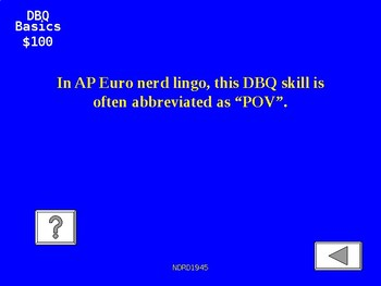 AP European History Jeopardy PowerPoint 10 Review