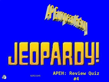 AP European History Jeopardy PowerPoint 4 Review