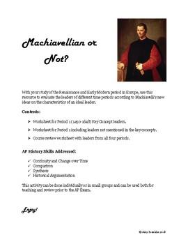 AP European History: Machiavellian or Not?