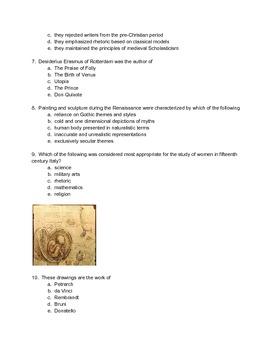 AP European History Mid Term Exam
