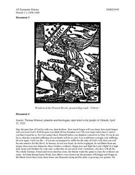 AP European History Period 1 Peasants Revolt DBQ Lesson