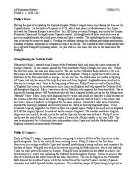 AP European History Period 2 Lesson Plan Bundle Unit