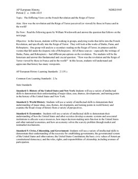 AP European History Period 2 Views of the French Revolutio