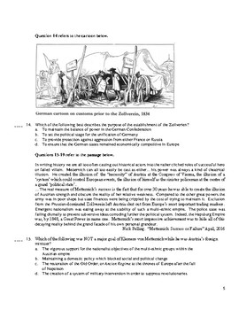 AP European History Period 3 A, Units 9-10 Exam in the Redesigned Exam Format