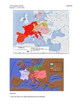 AP European History Period 3 Congress of Vienna Lesson Plan Activity