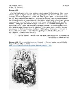 AP European History Period 3 German Unification DBQ Lesson
