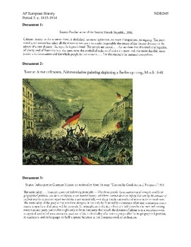 AP European History Period 3 Nationalism of the 19th and 20th centuries DBQ