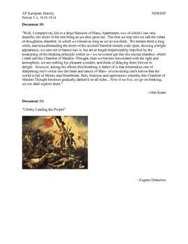 AP European History Period 3 Romantic Era Lesson