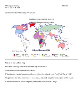 AP European History Period 3 The Rise of New Imperialism Group Activity Lesson