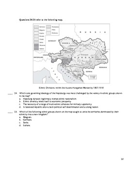 AP European History Period 4 A, Units 13-14 Exam in the Redesigned Exam Format