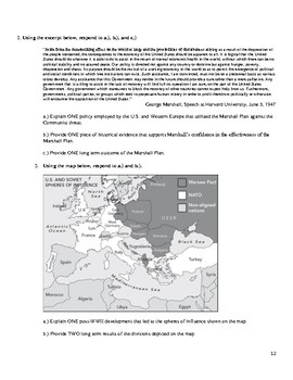 AP European History Period 4 B, Units 15-17 Exam in the Redesigned Exam Format