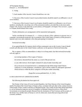 AP European History Period 4 Comparison of Atlantic Charter & UN Lesson