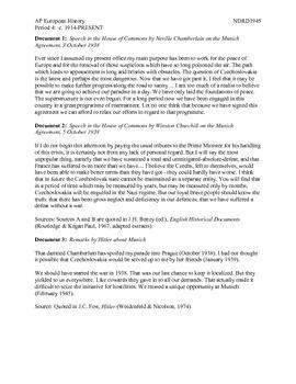 AP European History Period 4 Munich Conference Lesson