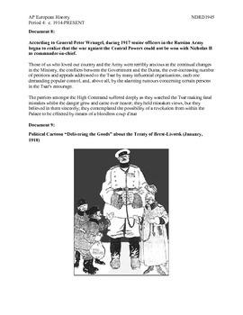 AP European History Period 4 Russian Revolution Part II Lesson