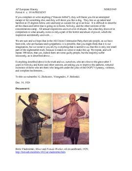 AP European History Period 4 The Leadership of Joseph Stalin
