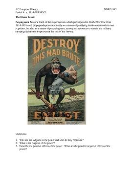 AP European History Period 4 WWI Propaganda Posters Lesson