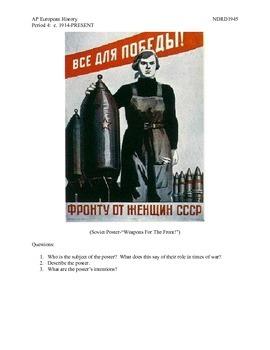 AP European History Period 4 WWII Propaganda Posters Lesson