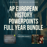 AP European History PowerPoints and Note Sheets Full Year Bundle