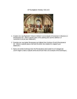 AP European History Renaissance Art SAQ Question