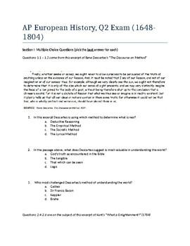 AP European History Test: Period 2