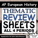 AP European History Thematic Timeline Review Sheets