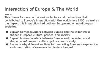 AP European History Themes PPT