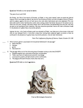 AP European History Period 1 A, Units 1-2 Exam in the Redesigned Exam Format