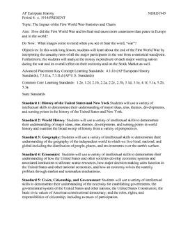 AP European Period 4 WWI Statistics Lesson