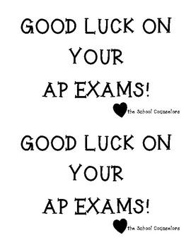 AP Exam Good Luck Sign