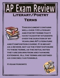 AP Exam Literature and Poetry Term Review