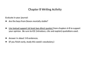 AP Expository Writing for A Separate Peace