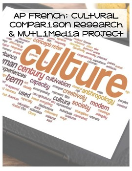 AP French Cultural Comparison Research & Multimedia Project