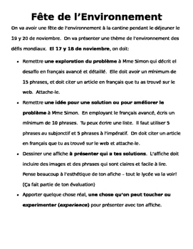 AP French Environmental Fair Project