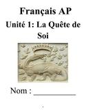 AP French La Quete de Soi Workbook (OLD UNIT, no textbook necessary) 6 week unit