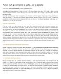 AP French Language and Culture: Le tabac et l'environnement