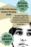 """AP French """"Quête de Soi"""" Kiffe Kiffe Demain Student Reading Guide & Vocab Game"""