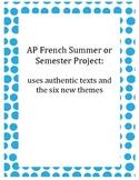 AP French Summer Work
